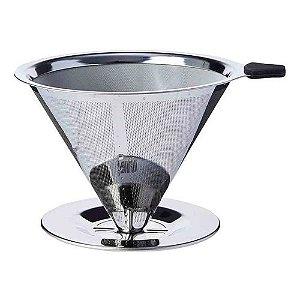 Filtro Coador de Cafe Reutilizável Médio Inox UnyHome
