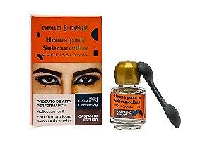 Henna Para Sobrancelha Della&Delle Castanho Escuro 3g