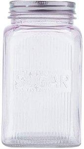 Pote de Vidro Decorativo Açúcar Rosa