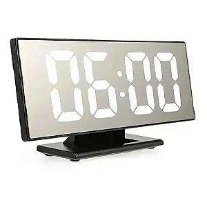 Relógio de Mesa Led Digital Espelhado UnyHome