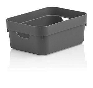 Caixa Organizadora Cube Mini Cinzada OU