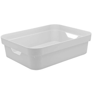 Caixa Organizadora Cube P Baixa Branco da OU