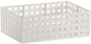 Organizador Empilhavel Quadratta 23x16x8cm Branco