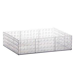 Organizador Empilhavel Quadratta 32x23x8cm Cristal