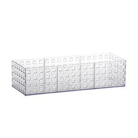 Organizador Empilhavel Quadratta 32x11,5x8cm Cristal