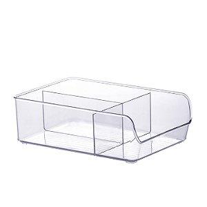 Organizador com Divisórias Diamond 28x19x9cm Cristal