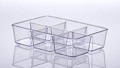 Organizador com Divisórias Diamond 25x18x6cm Cristal