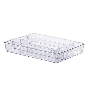 Organizador com Divisórias Diamond 36x28x5cm Cristal