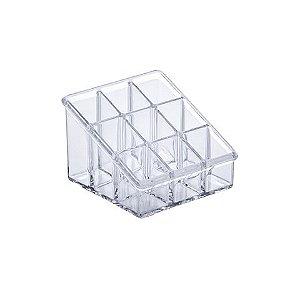 Organizador Cosmeticos Elegance 9x9x6,5cm Cristal