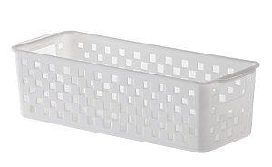 Cesto Organizador Quadratta 27x11x8cm Branco