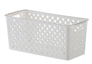 Cesto Organizador Quadratta 27x12x12cm Branco