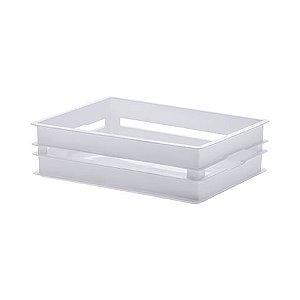 Caixote Organizador Empilhavel 28x19x8,5cm Branco