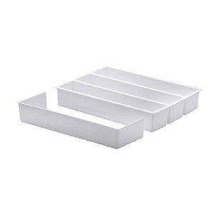 Organizador com Extensor 35x25x6,5cm Paramount Branco