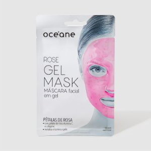 Rose Gel Mask - Máscara facial em gel - pétalas de rosas Oceane