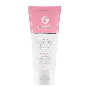 Protetor Solar Facial Anasol 60g Fps70 Clareador