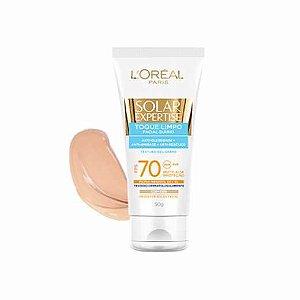 Protetor Solar L'oreal Expertise Facial FPS70 Toque Limpo Com Cor