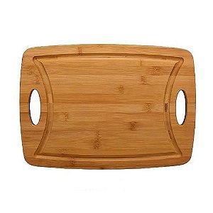 Tabua de Corte em Bambu com Alça Haüskraft 39,5cm
