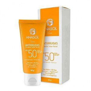 Protetor Solar Facial Anasol Antirrugas FPS 50 60g