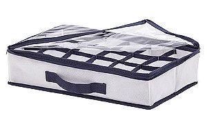 Organizador Clear Multiuso com Alça com 18 Divisórias Concept 39x24x9cm