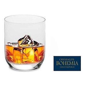 Jogo de 6 Copos Cristal Bohemia Crystalite Ara Whisky 350ml