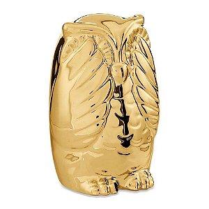 Coruja Sábia Dourada Sem Ver