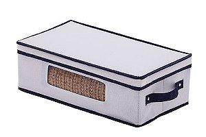 Cesto Organizador em Linho com Visor Concept 45x25x15cm