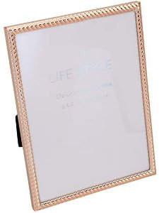 Porta Retrato Rose Gold Tress 15x20cm