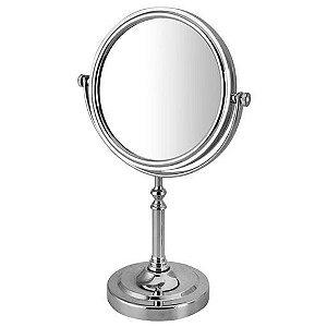 Espelho de Mesa Dupla Face Redondo com Pedestal 16,7cm