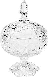 Potiche Decorativo com Pé de Cristal Prima  11x18cm