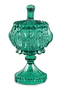 Pote Decorativo Esmeralda em Vidro Mart