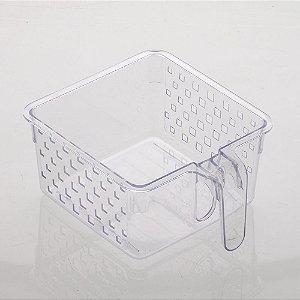 Cesto Organizador com Alça 23x19x10cm Cristal