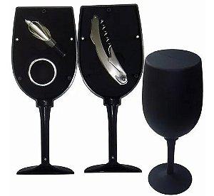 Kit Vinho Formato Taça (3 Acessórios)