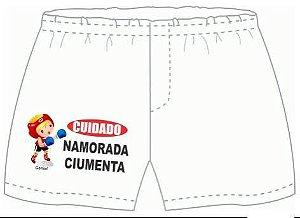 Cueca Samba Canção Personalizada  Cuidado Namorada Ciumenta