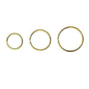 Nostril Argola em Aço - PVD Gold