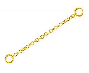 Corrente em Aço PVD Gold - 5cm