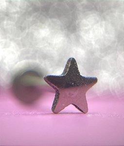 Labret Estrela em Titânio