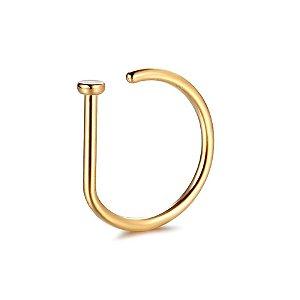 Piercing Nostril D-Ring em Titânio-PVD Gold - 0.8/8mm