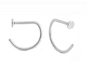 Piercing Nostril D-Ring em Titânio 0.8/8mm