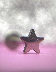 Labret Estrela em Aço