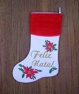 Enfeite de Natal bota flores