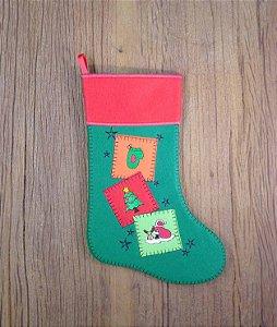 Enfeite de Natal bota com aplicações