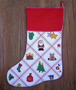 Enfeite de Natal bota quadriculados