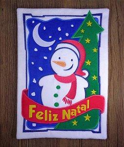 Enfeite de Natal boneco de neve