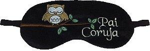 Máscara de descanso Pai coruja