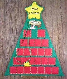 Enfeite de Natal calendário de advento pinheiro menino Jesus