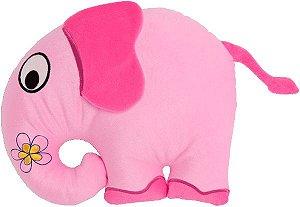 Almofada infantil animais da floresta, elefante rosa