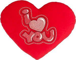 Almofada coração I love You Grande