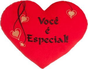 Almofada coração Vocé é especial G