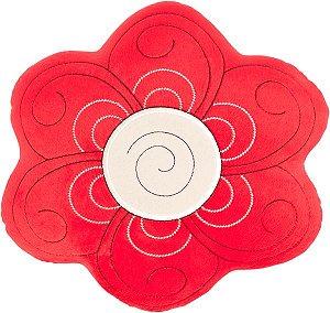 Almofada flor vermelha