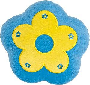 Almofada flor azul com amarelo